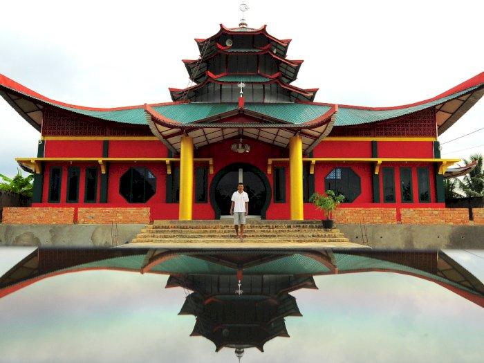 FOTO: Progres Pembangunan Masjid Laksamana Cheng Hoo Jambi