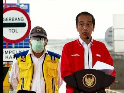 Jokowi Resmikan Tol Kayu Agung, Kini Perjalanan Lampung-Palembang Hanya 3 Jam