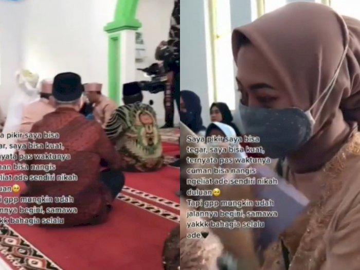 Sedih Dilangkahi Adik Menikah, Wanita Ini Tak Kuasa Menahan Tangis saat Akad