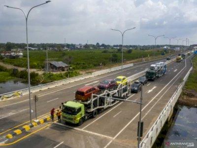 Jalan Tol Trans Sumatera Kayuagung - Palembang Sudah Diresmikan Presiden Jokowi