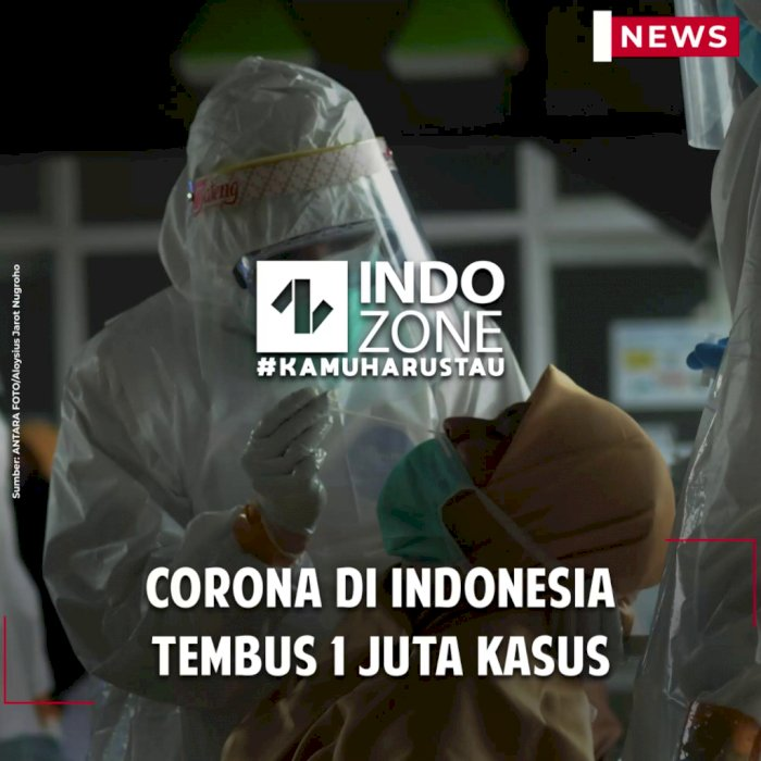 Corona di Indonesia Tembus 1 Juta Kasus