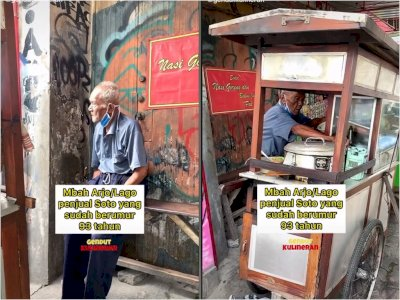 Meski Sudah Lanjut Usia, Kakek di Yogyakarta ini Masih Semangat Jualan Soto