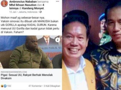 Minta Maaf ke Natalius Pigai dan Warga Papua, Ambroncius: Tak Ada Maksud Rasis