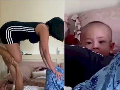 Vanessa Angel Bikin Video TikTok di Ranjang Bareng Suami, Ekspresi Anaknya Curi Perhatian