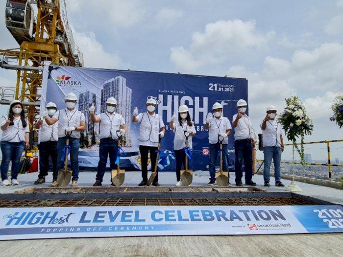 Sinar Mas Land Menggelar Topping Off Tower Azure di Klaska Residence Surabaya