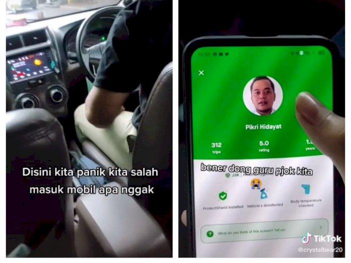 Naik Taksi Online, Cewek Ini Kaget Disopiri Gurunya Sendiri, Sepanjang Jalan Ketawa Terus