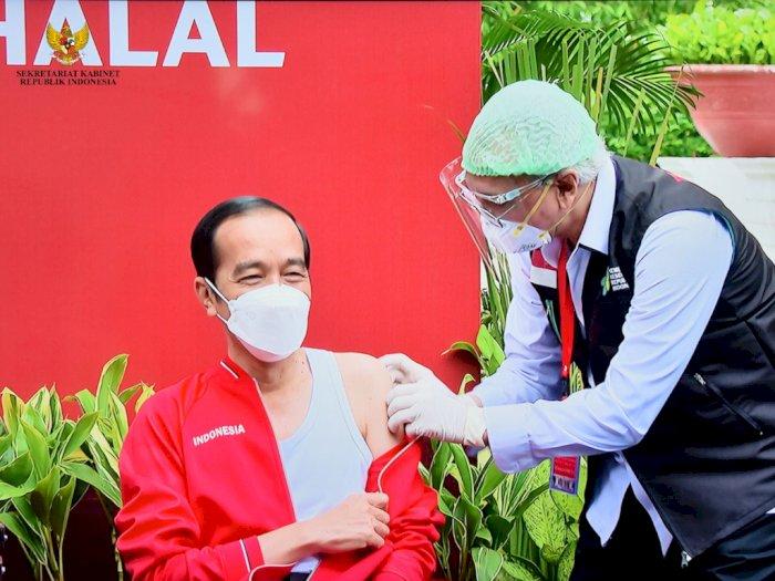 Usai Terima Dosis Vaksin Kedua, Jokowi Sebut Vaksinasi ke Masyarakat Dilakukan Februari