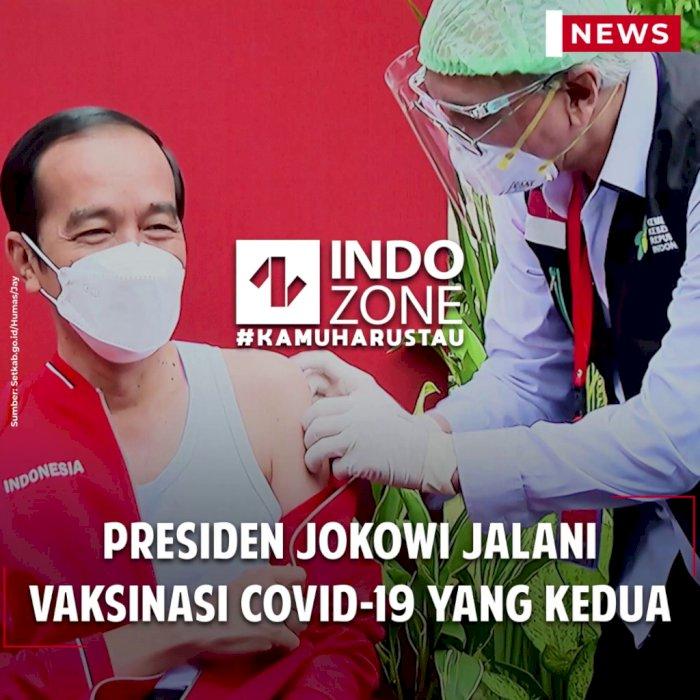 Presiden Jokowi Jalani Vaksinasi Covid-19 yang Kedua