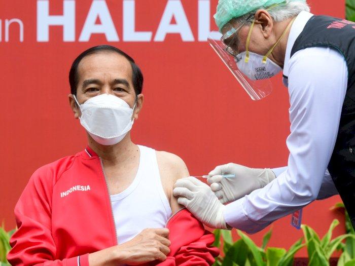 Jalani Suntik Vaksin Dosis Kedua, Jokowi Mengaku Masih Tidak Merasakan Sakit