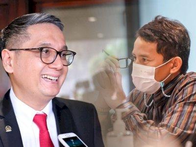 Sandiaga Uno Kena Semprot Anggota DPR RI Gara-gara Update Status di Medsos Saat Rapat