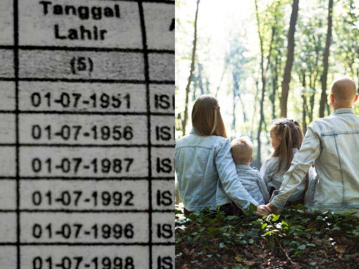 Unik! Satu Keluarga Lahir di Tanggal dan Bulan yang Sama, Netizen: Irit Kue Ultah