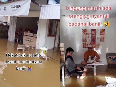 Tetap Buka di Tengah Banjir, Kafe Ini Malah Ramai Dikunjungi Pembeli, Jadi Tempat Wisata