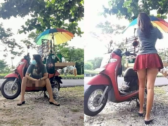 Viral Penjual Kopi Cantik di Serangan Bali, Duduk Ngangkang Sambil Pamer Paha Mulus