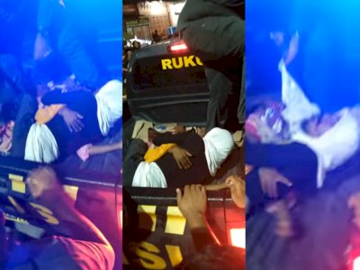 Viral Sejoli Gancet Saat Intim di Tengah Jalan, Diangkut Polisi Tetap Tak Terpisahkan