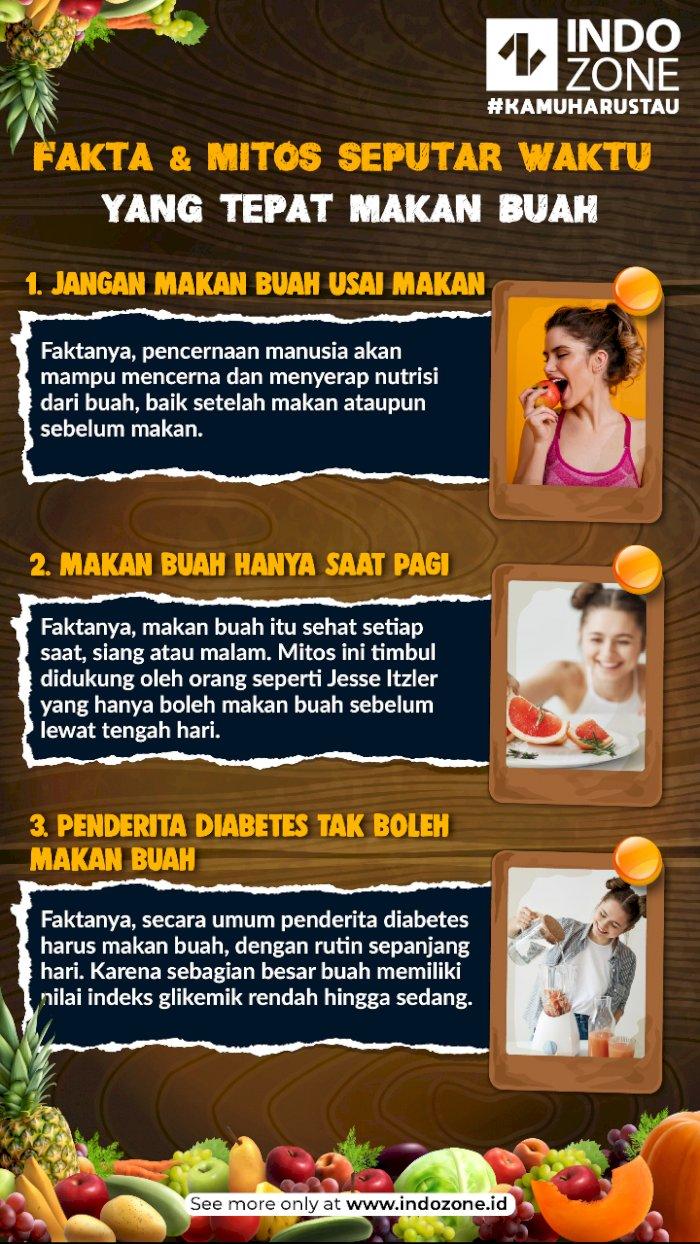 Fakta & Mitos Seputar Waktu yang Tepat Makan Buah