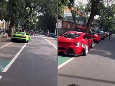 Viral Video Mobil Mewah yang Parkir di Jalur Sepeda, Bikin Netizen Salfok
