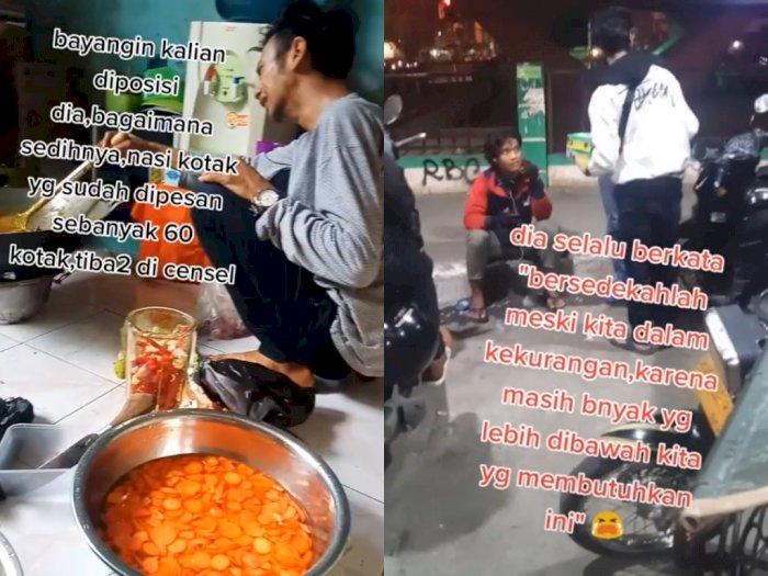 Pesanan Nasi 60 Kotak Dibatalkan Konsumen, Pria Ini Sedekahkan Makanan Meski Kesusahan