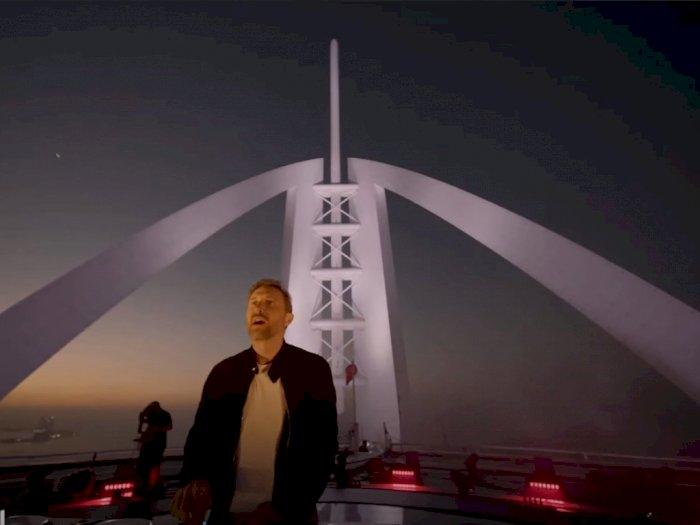 David Guetta Gelar Konser Amal dari Helipad Burj Al Arab Dubai