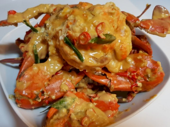 Ide Kreasi Seafood: Resep Kepiting Saus Telur Asin, Maknyus!