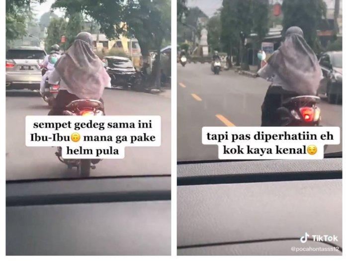 Wanita Ini Emosi Lihat Ibu-Ibu Naik Matik Halangi Mobilnya, Pas Dideketin Kok Kaya Kenal?