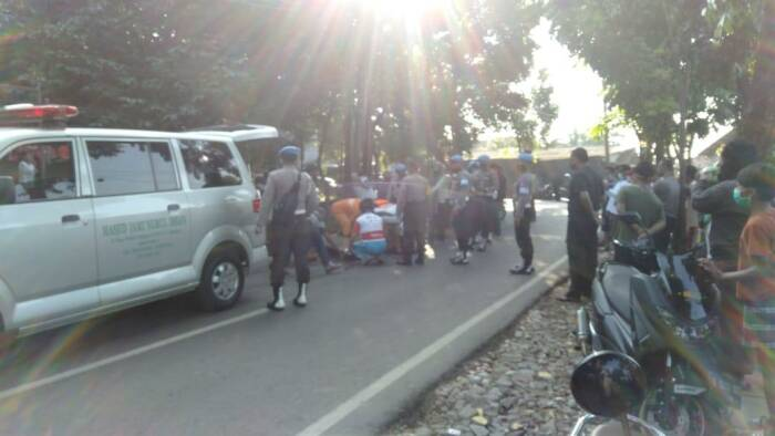 Anggota Polri diduga dibacok di Pondok Rangon, Jakarta Timur. (dok Istimewa).