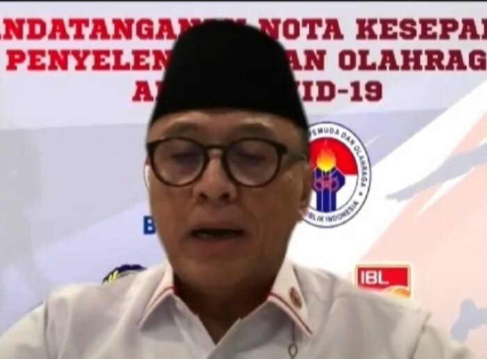 Ketua Umum PSSI Komisaris Jenderal Polisi (purnawirawan) Dr. Drs. H. Muhamad Iriawan, S.H., M.M., MH.