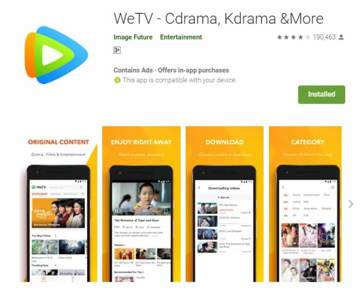 aplikasi streaming drama Korea subtitle Indonesia gratis terbaik WeTV