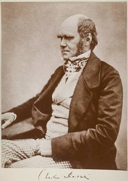 Charles Darwin saat berusia 45 pada 1854.