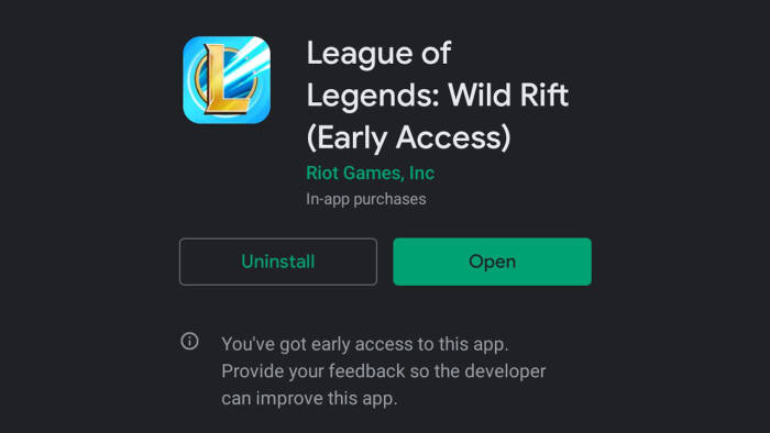 Game League of Legends: Wild Rift di Google Play Store