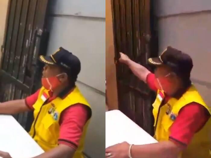 Petugas ngotot makan di tempat