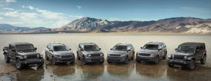 Jajaran mobil Jeep 2021 edisi ulang tahun Jeep yang ke-80