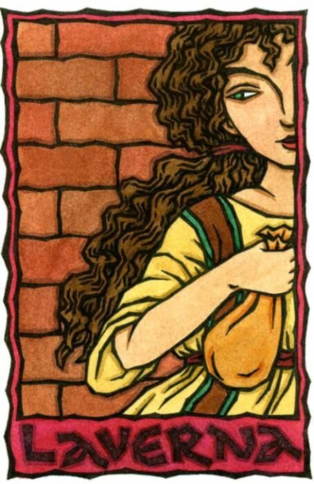 Ilustrasi dewi Laverna.