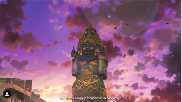 Cuplikan video Tabanan, Bali dengan nuansa layaknya seperti anime atau kartun Jepang. (photo/Instagram/@yogagr64)