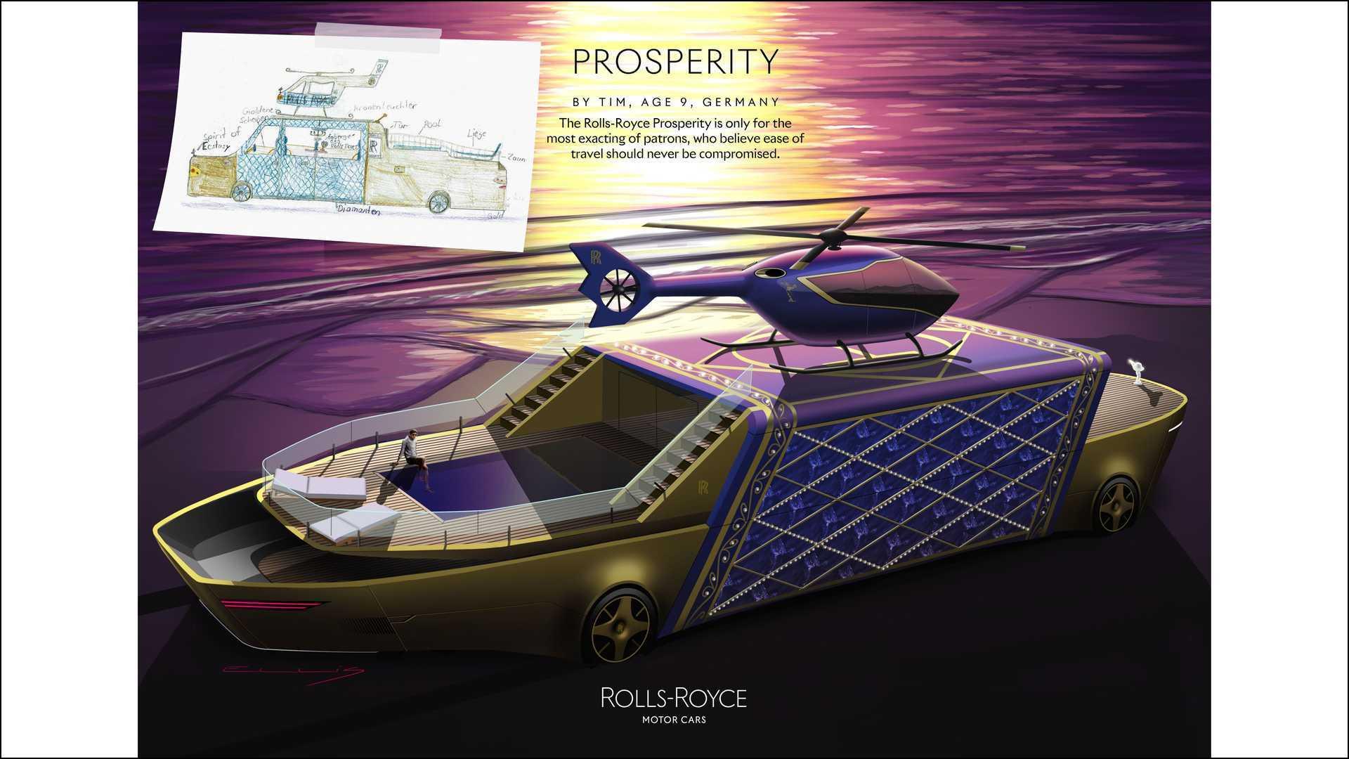 Salah satu konsep render mobil futuristik dari Rolls-Royce