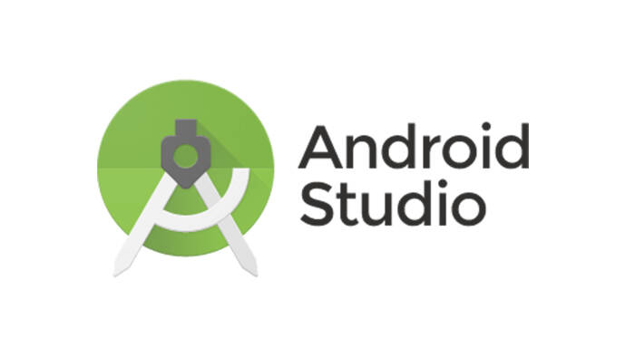 Ilustrasi logo software Android Studio buatan Google