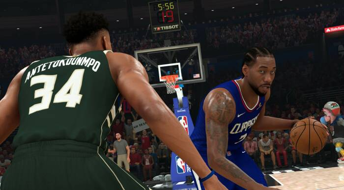 Tampilan gameplay NBA 2K21 buatan Visual Concepts dan 2K Games
