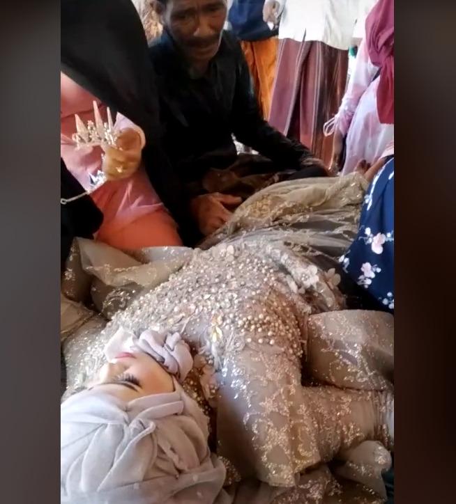 video viral, viral, pengantin wanita pingsan