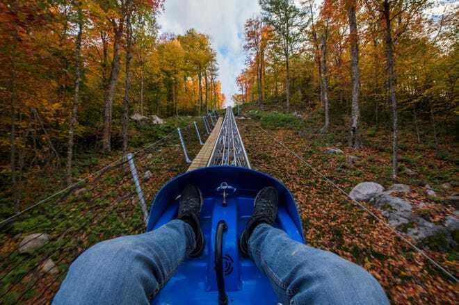 Mount coaster baru di New York.