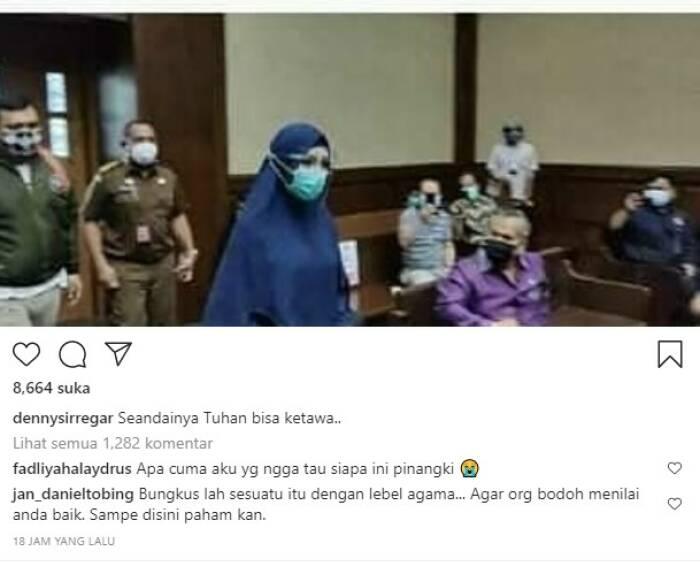 Sindiran Denny Siregar di Instagram