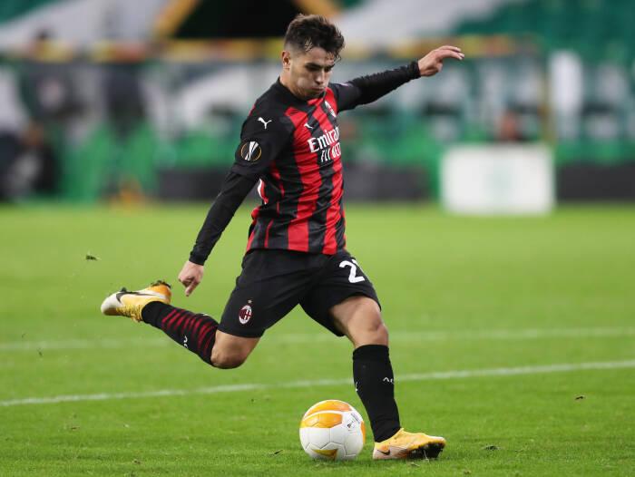 Pemain AC Milan Brahim Diaz mencetak gol kedua mereka