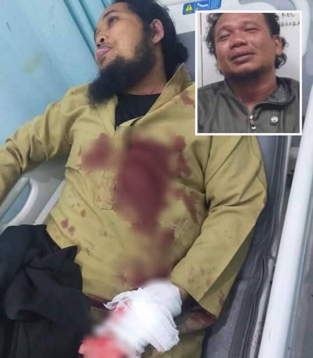 Ustaz Muhamad Zaid Maulana jadi korban penikaman. (Istimewa)