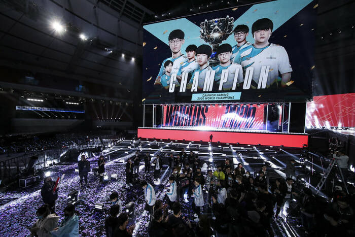 Stage League of Legends Worlds 2020 di Shanghai, Tiongkok