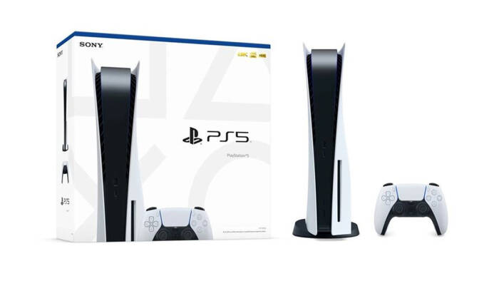 Tampilan console PlayStation 5 buatan Sony