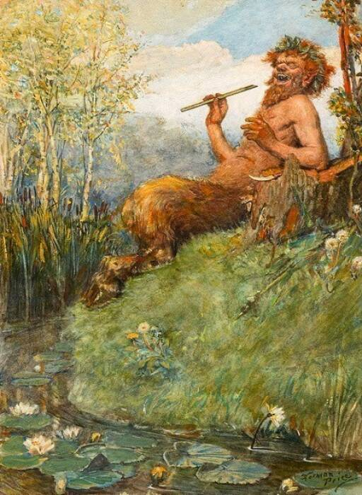Ilustrasi dewa Pan mitologi Yunani yang menjadi asal kata Panik