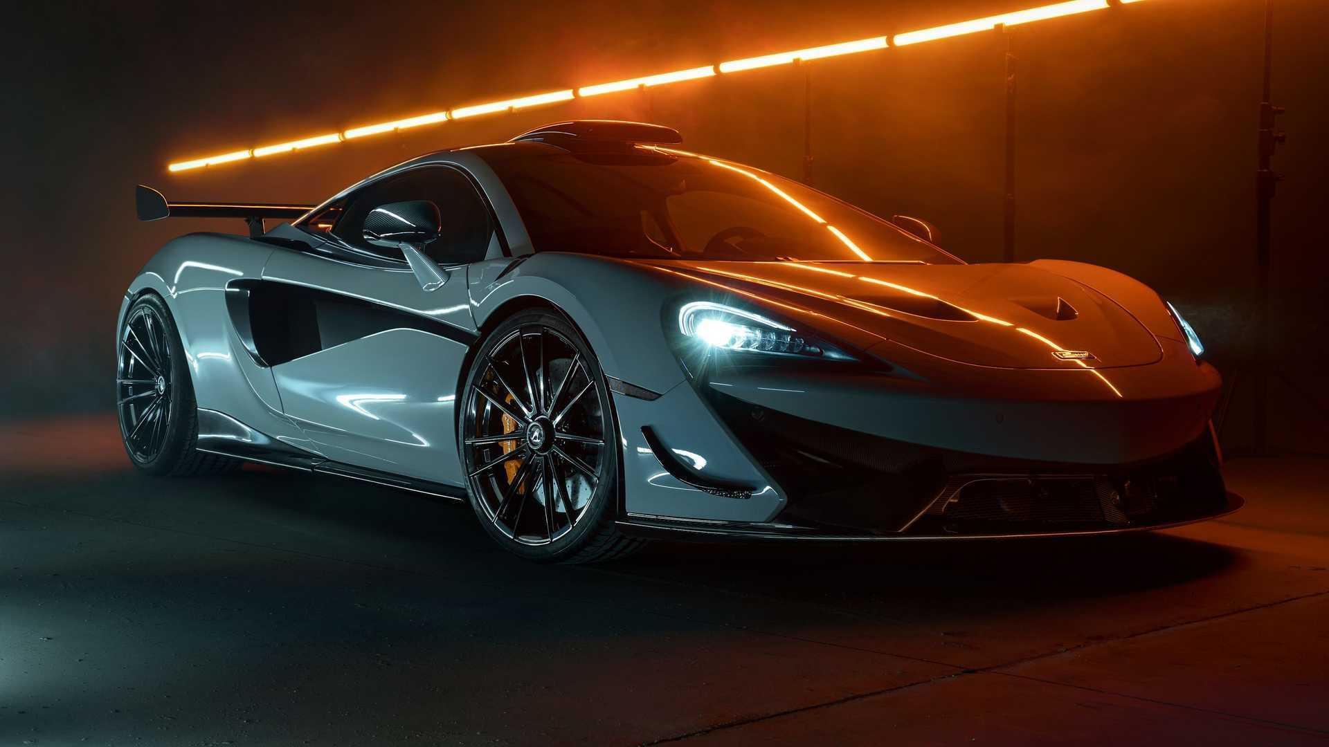 Tampilan mobil McLaren 620R hasil modifikasi oleh Novitec