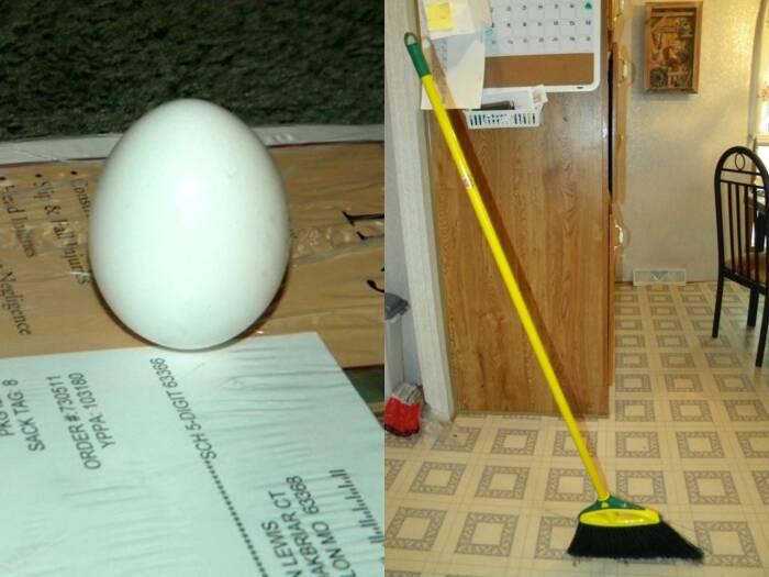 Eksperimen menegakkan telur dan sapu saat gerhana.