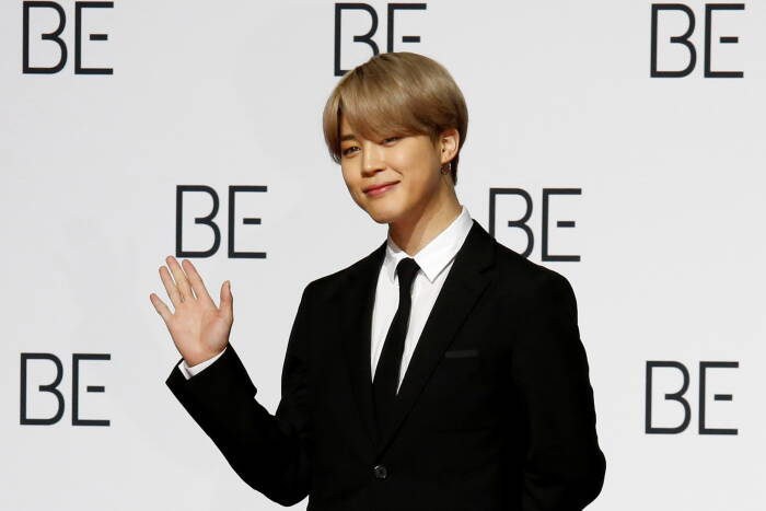 Anggota boy band K-pop BTS Jimin