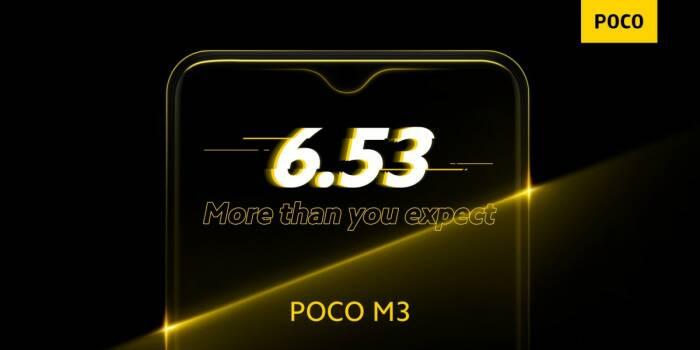 Spesifikasi utama dari POCO M3