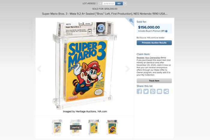Tampilan game Super Mario Bros 3 NES langka