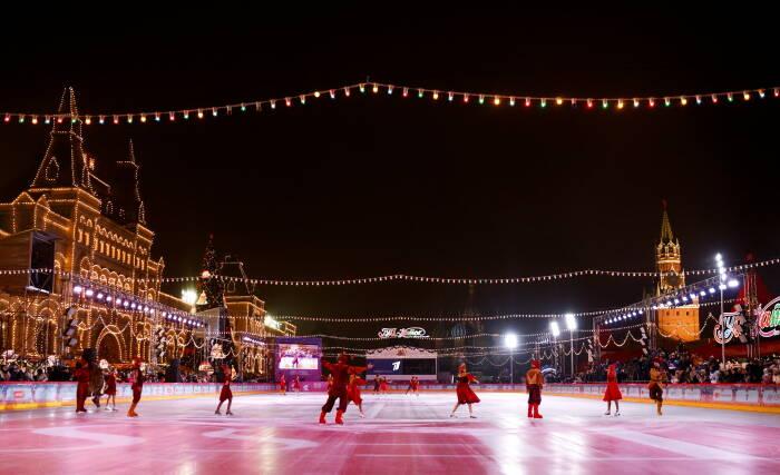 Gelandang es terbesar di Moskow